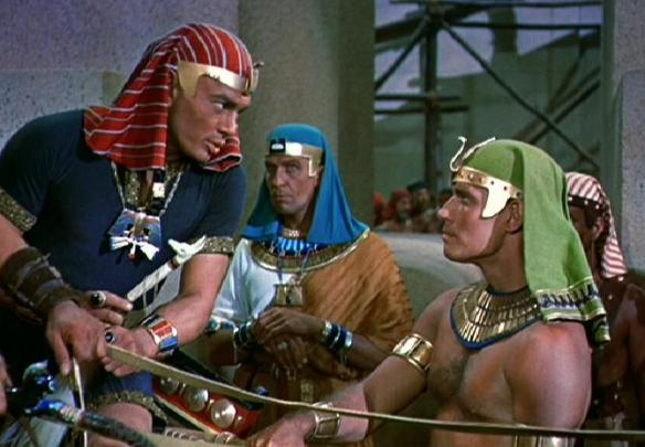 Yul-Bryner-Rameses-II-and-Charlton-Heston-Moses-The-Ten-Commandments-1956-Paramount
